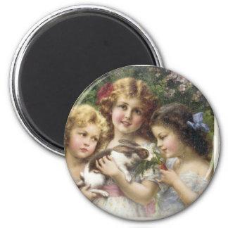 Cecily Vintage Spring Easter Shirt Magnet