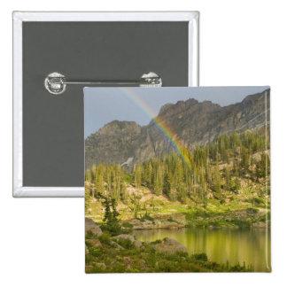 Cecret Lake with rainbow over Devil's Castle, Button