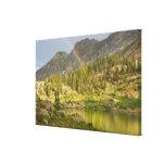 Cecret Lake with rainbow over Devil's Castle, Canvas Prints
