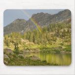 Cecret Lake with rainbow over Devil's Castle, Mouse Pad