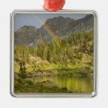 Cecret Lake with rainbow over Devil's Castle, Ornament