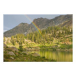 Cecret Lake with rainbow over Devil's Castle, Art Photo
