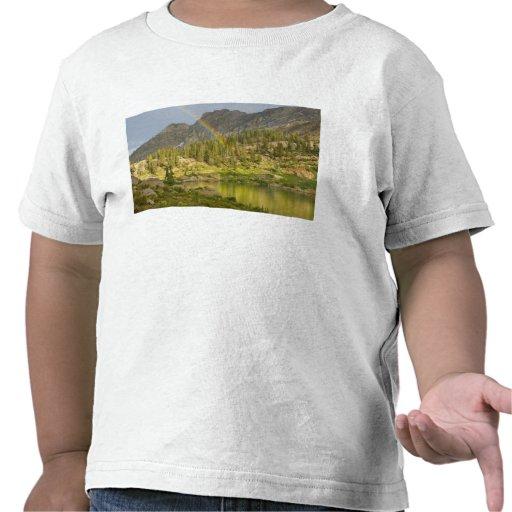 Cecret Lake with rainbow over Devil's Castle, T Shirt