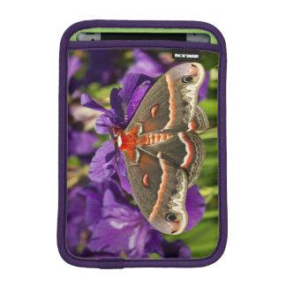Cecropia Moth in flower garden iPad Mini Sleeve