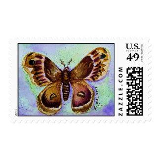 Cecropia Moth Postage Stamp
