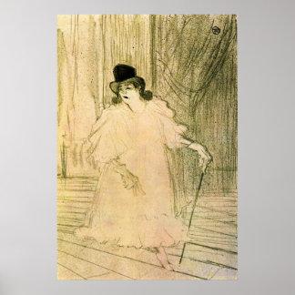 Cecy Loftus by Toulouse-Lautrec Poster