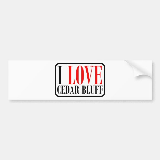 Cedar Bluff, Alabama City Design Bumper Sticker