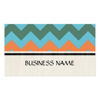 Cedar Chest and Blue Chevron Zigzag Pattern Business Card