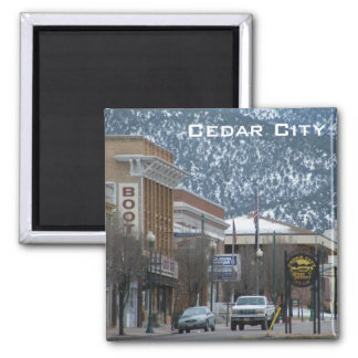 Cedar City Imán Cuadrado