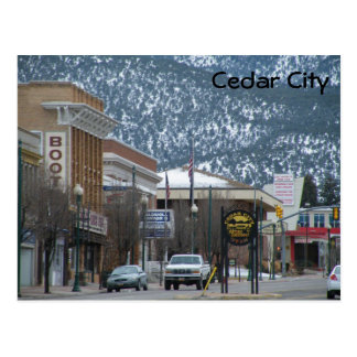 Cedar City Tarjeta Postal