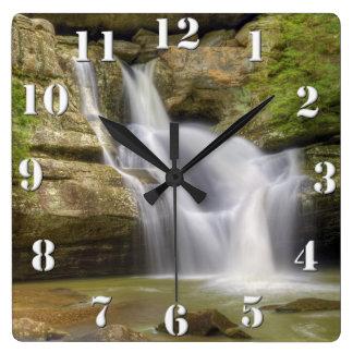 Cedar Falls, colinas Ohio de Hocking Relojes De Pared