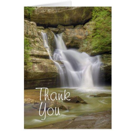 Cedar Falls, Hocking Hills Ohio Greeting Card