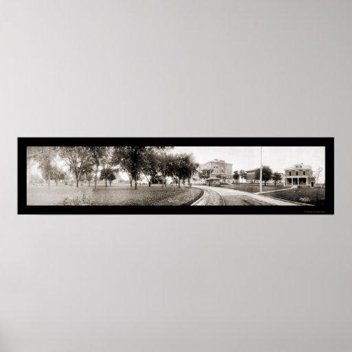 Cedar Falls IA Panview Photo 1907 Poster  Zazzle