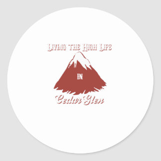 Cedar Glen Classic Round Sticker