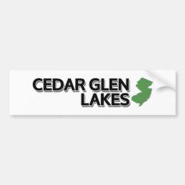 Cedar Glen Lakes, New Jersey Bumper Sticker