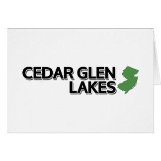 Cedar Glen Lakes, New Jersey Card