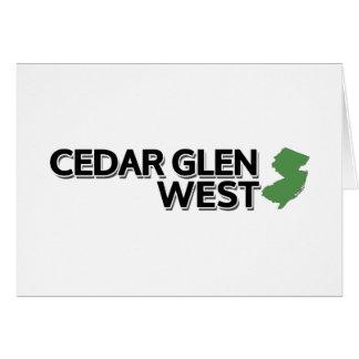 Cedar Glen West, New Jersey Card