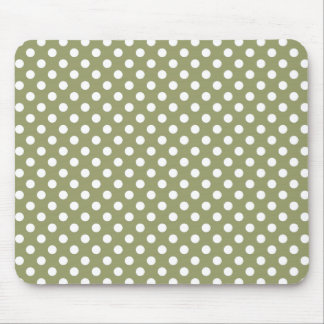 Cedar Green Polka Dot Mousepad