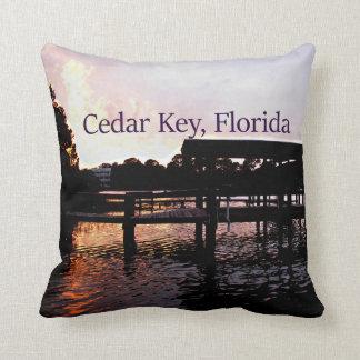 Cedar Key Bayou Sunset - Florida Throw Pillow