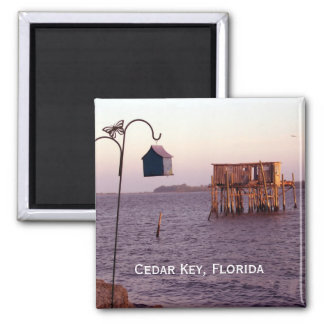 Cedar Key Bird Feeder, Cedar Key, Florida Refrigerator Magnet