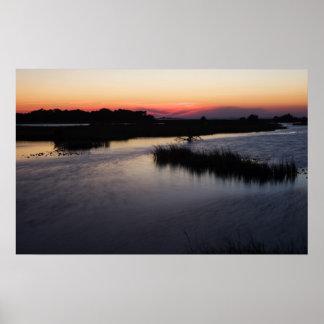 Cedar Key Breezy Sunset  Print