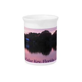 Cedar Key Florida Sunset Drink Pitcher