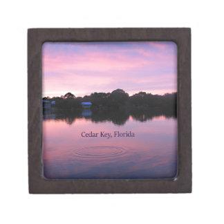 Cedar Key Florida Sunset Gift Box