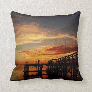Cedar Key Florida Sunset Throw Pillow