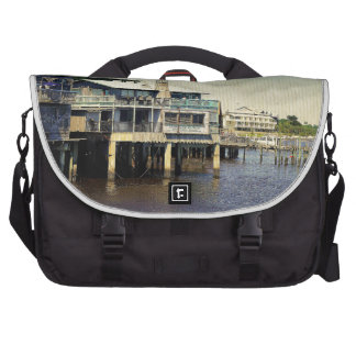 Cedar Key Marina Laptop Messenger Bag