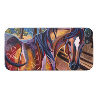 Cedar Lake Horse Case Savvy iPhone 5 Glossy Finish Covers For iPhone 5