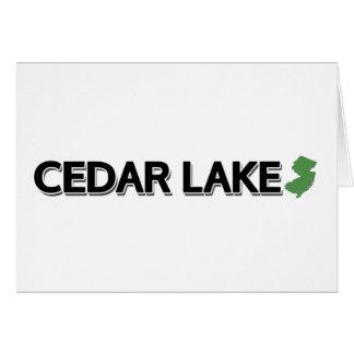 Cedar Lake, New Jersey Greeting Cards
