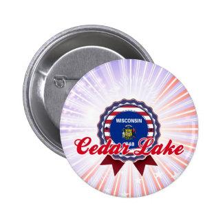 Cedar Lake, WI Button