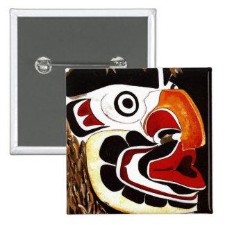 Cedar Mask Pinback Button