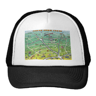 Cedar Park Texas Cartoon Map Trucker Hat