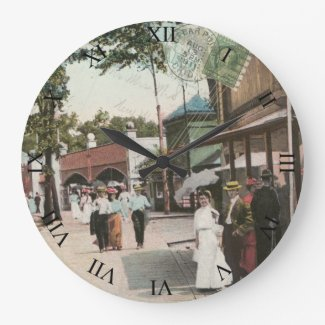 Cedar Point Ohio Post Card Clock - The Midway 1911