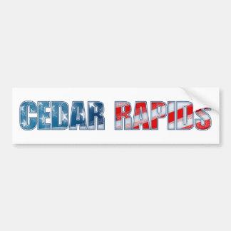 Cedar Rapids Bumper Sticker