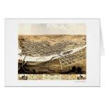Cedar Rapids, IA Panoramic Map - 1868 Greeting Card