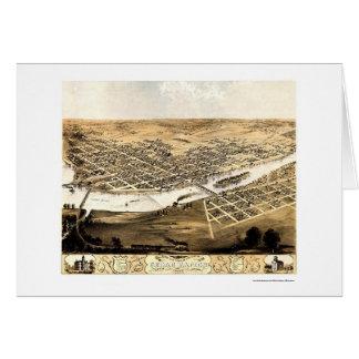 Cedar Rapids, IA Panoramic Map - 1868 Card