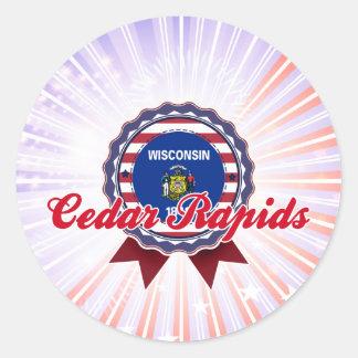 Cedar Rapids, WI Pegatinas Redondas