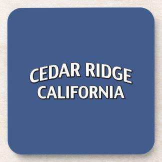 Cedar Ridge California Beverage Coaster
