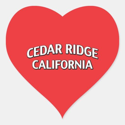 Cedar Ridge California Heart Stickers