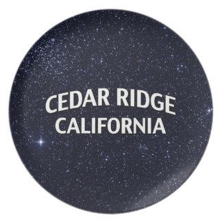 Cedar Ridge California Plate