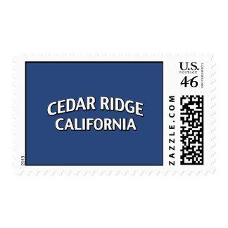 Cedar Ridge California Postage