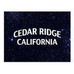 Cedar Ridge California Postcard