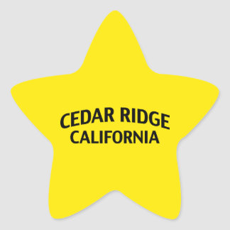 Cedar Ridge California Star Sticker
