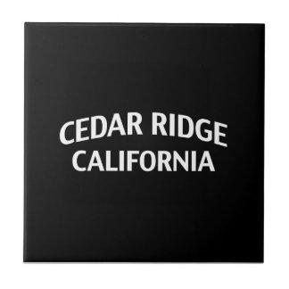 Cedar Ridge California Ceramic Tile