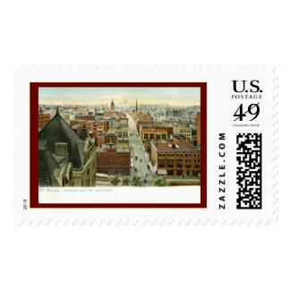 Cedar St., St. Paul, Minnesota Vintage Postage Stamp