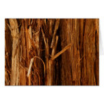 Cedar Textured Wooden Bark Look Card