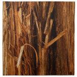Cedar Textured Wooden Bark Look Cloth Napkin