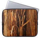Cedar Textured Wooden Bark Look Computer Sleeve